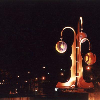 kinetic metal sculpture