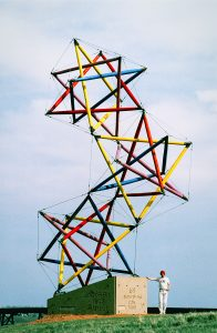 tensegrity large scale outdoors sculpture